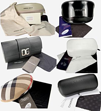 Комплектация дизайнерских солнцезащитных очков и оправ для зрения на Optix.su