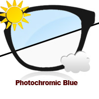 Photochromic Blue Sun Lens
