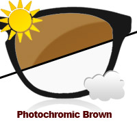 Photochromic Brown Sun Lens