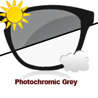 Photochromic Grey Sun Lens