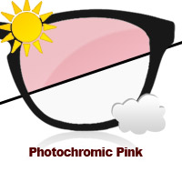 Photochromic Pink Sun Lens