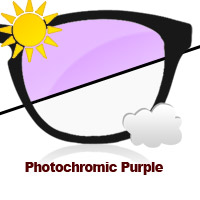 Photochromic Purple Sun Lens