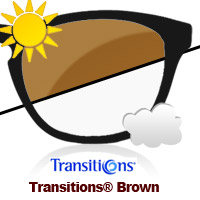 Transitions Brown Sun Lens