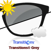 Transitions Grey Sun Lens