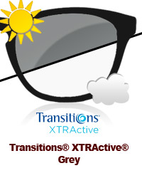 Transitions XTRActive Grey Sun Lens